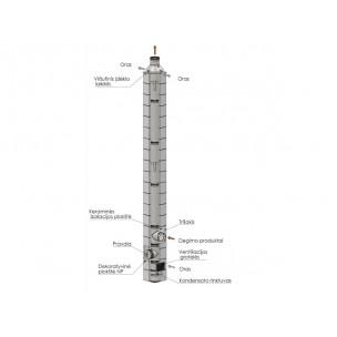 Modulinis dūmtraukis DK-BLOCKS-H Ø150 4-12 m